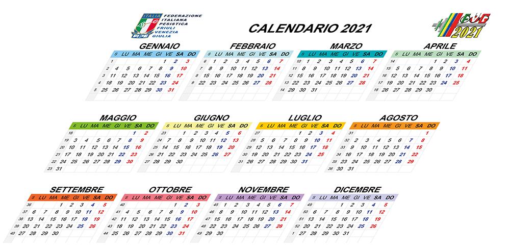 Calendario Regionale 2021