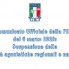 Comunicato Ufficiale della FIPE del 6 marzo 2020: Sospensione delle attività agonistiche regionali e nazionali